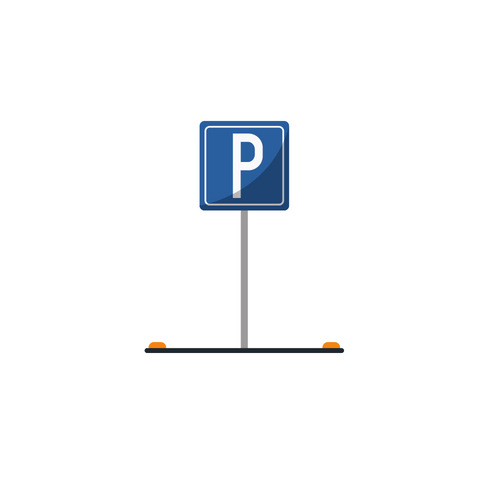 graphic of an empty parking space